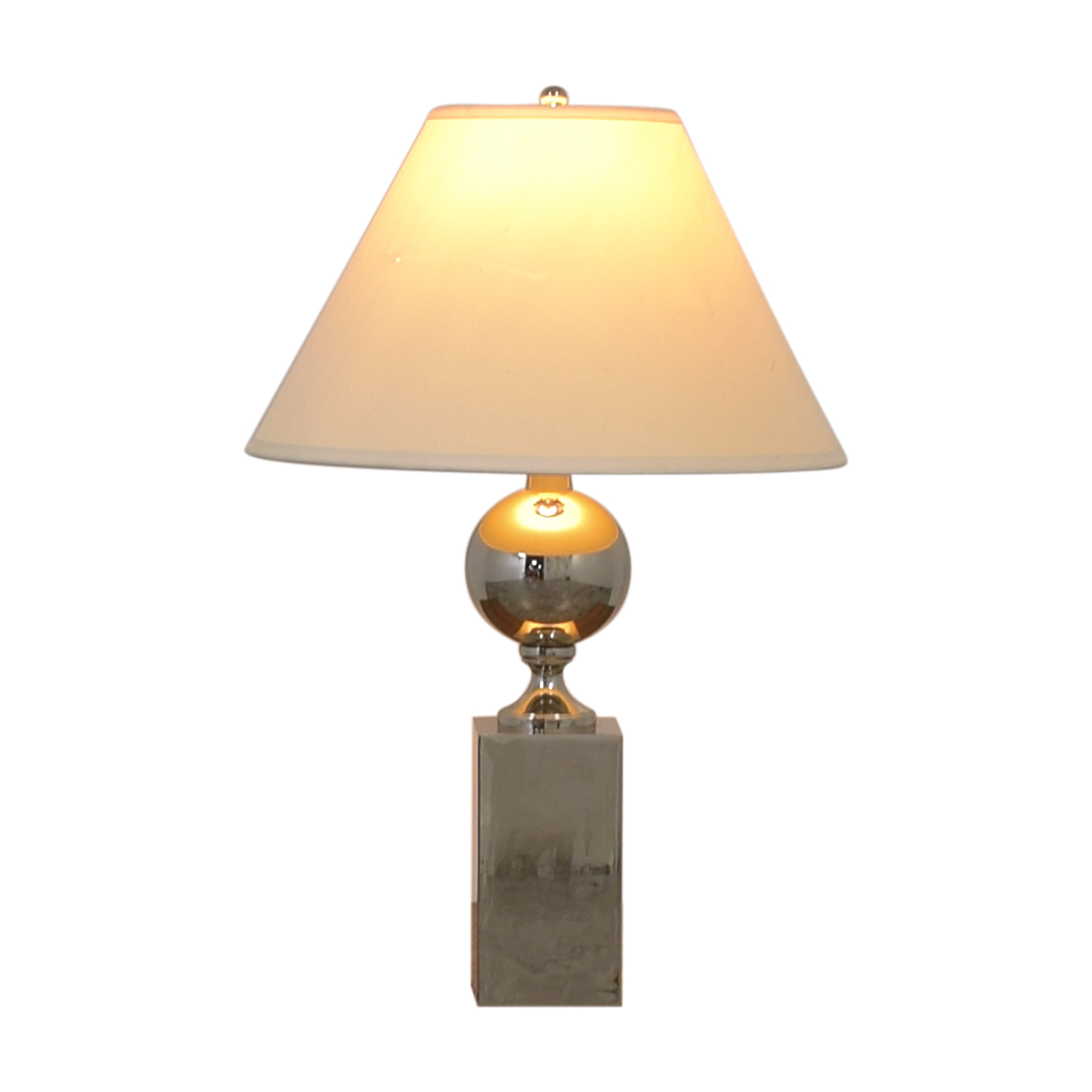 Mitchell Gold + Bob Williams Polished Stainless Large Table Lamp sale