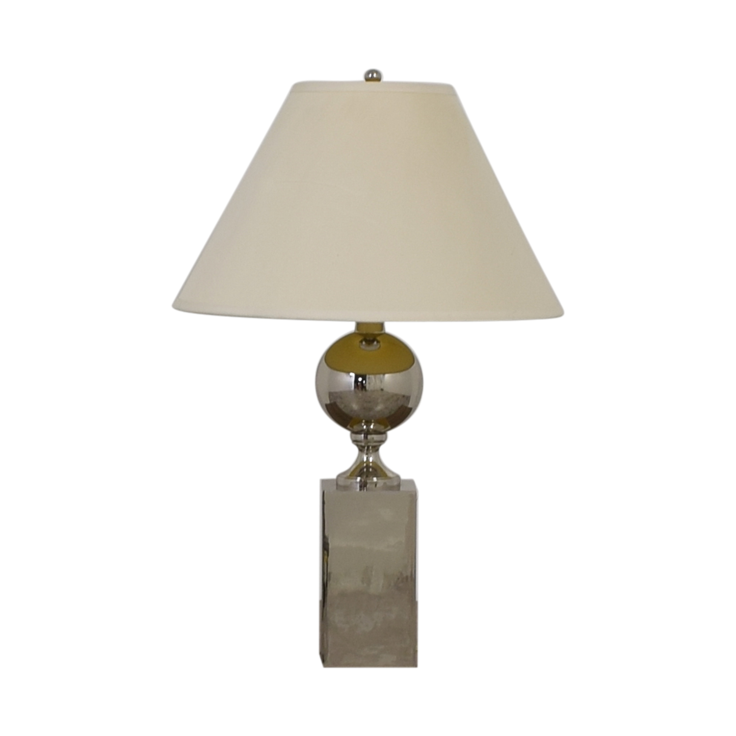 Mitchell Gold + Bob Williams Mitchell Gold + Bob Williams Polished Stainless Large Table Lamp second hand