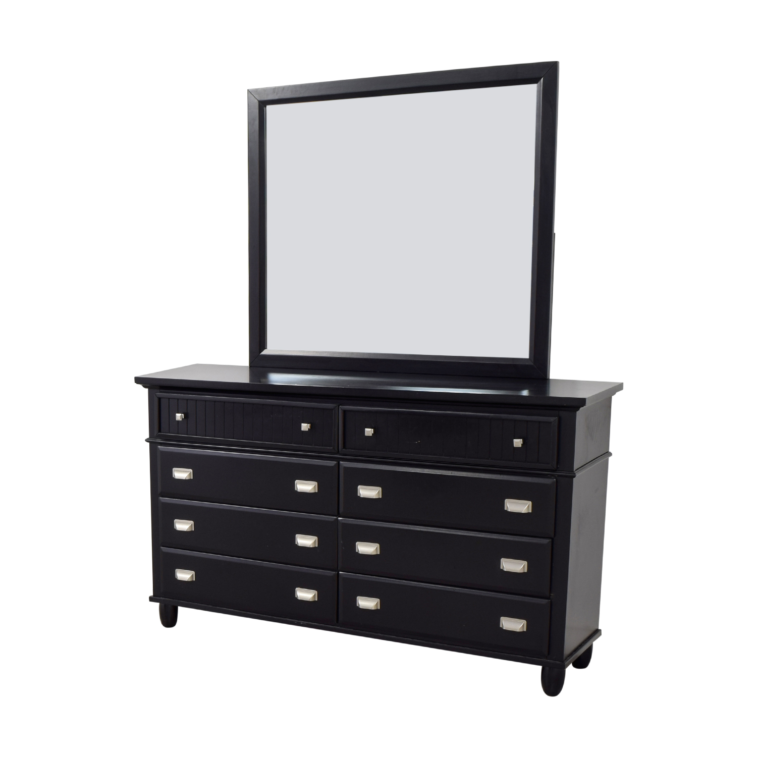 buy Bob's Furniture Spencer Black Eight-Drawer Dresser with Mirror Bob's Furniture Sofas