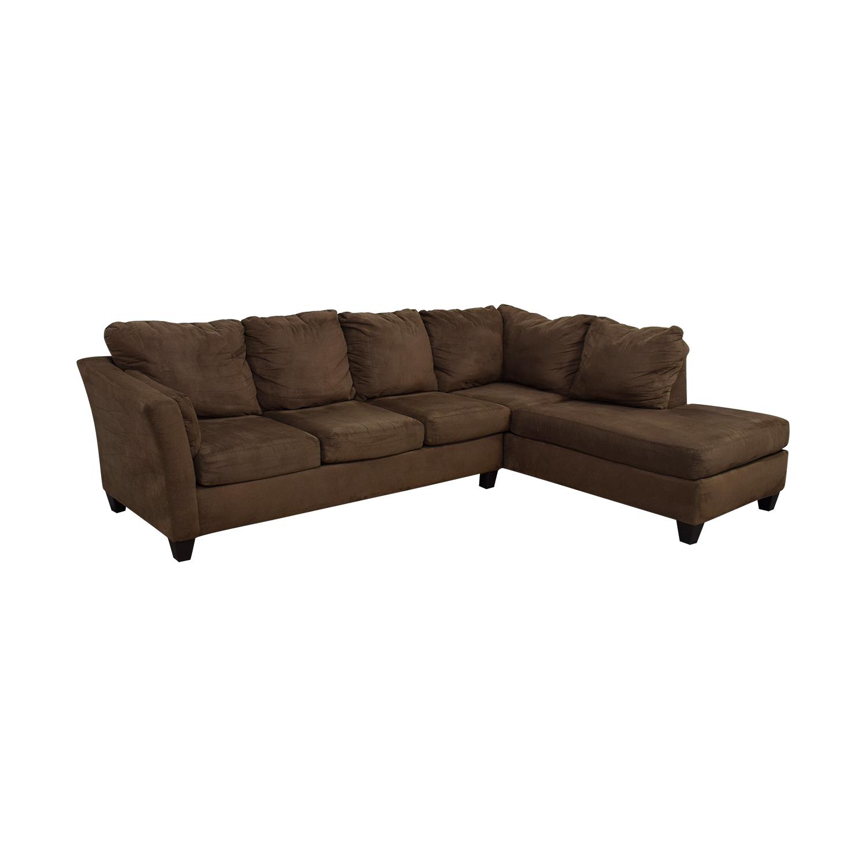 ... Bobu0027s Furniture Bobu0027s Furniture Libre II Brown L Shaped Chaise  Sectional ...