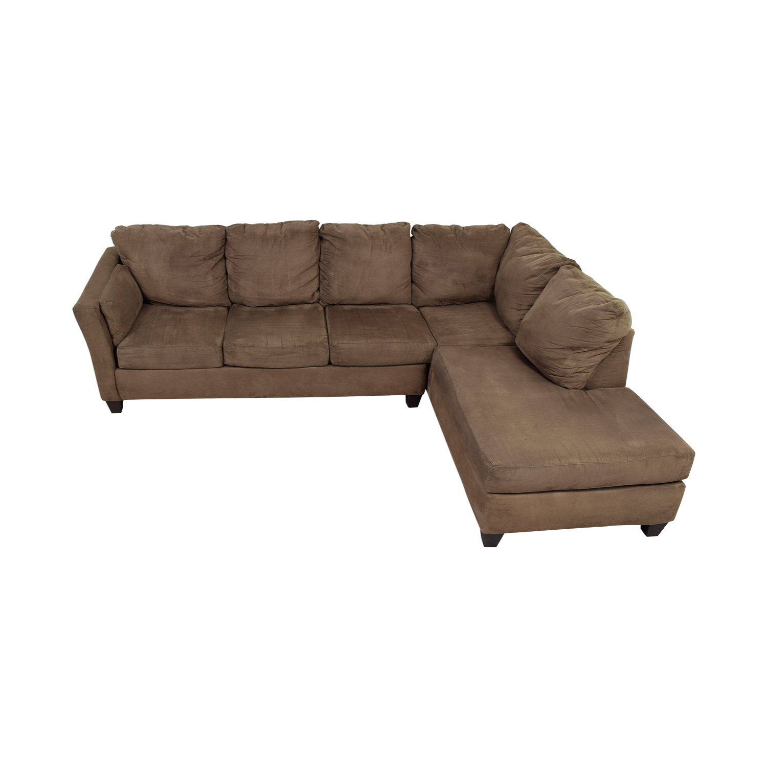 Bob's Furniture Bob's Furniture Libre II Brown L-Shaped Chaise Sectional nyc