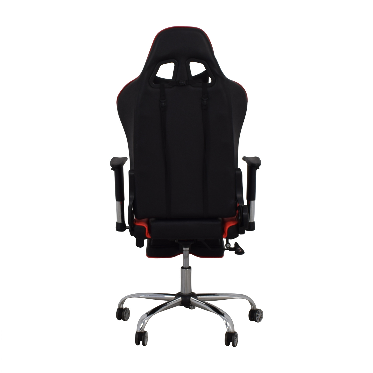 Merax Merax Black and Red Recliner Gaming Chair with Footrest Sofas