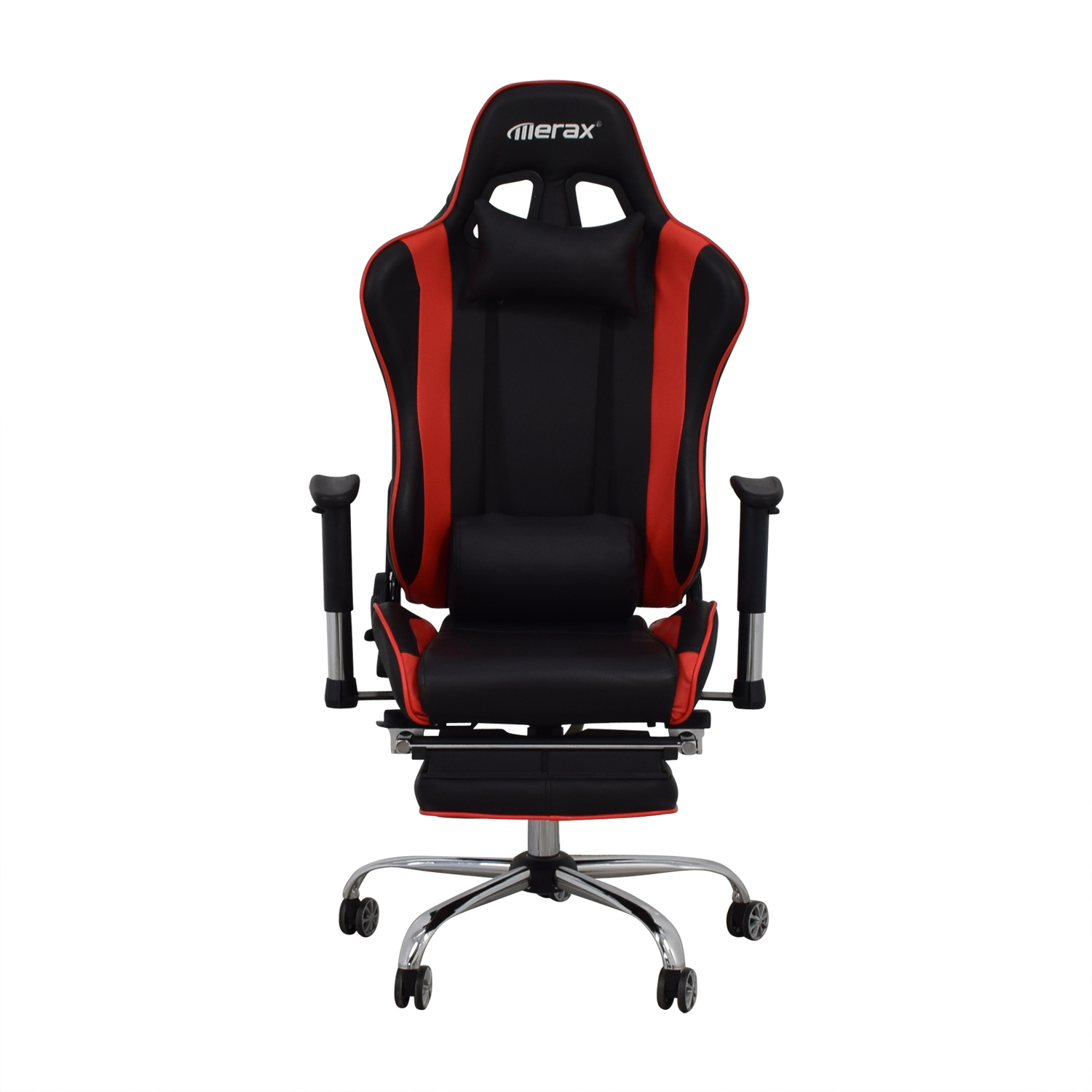 buy Merax Black and Red Recliner Gaming Chair with Footrest Merax