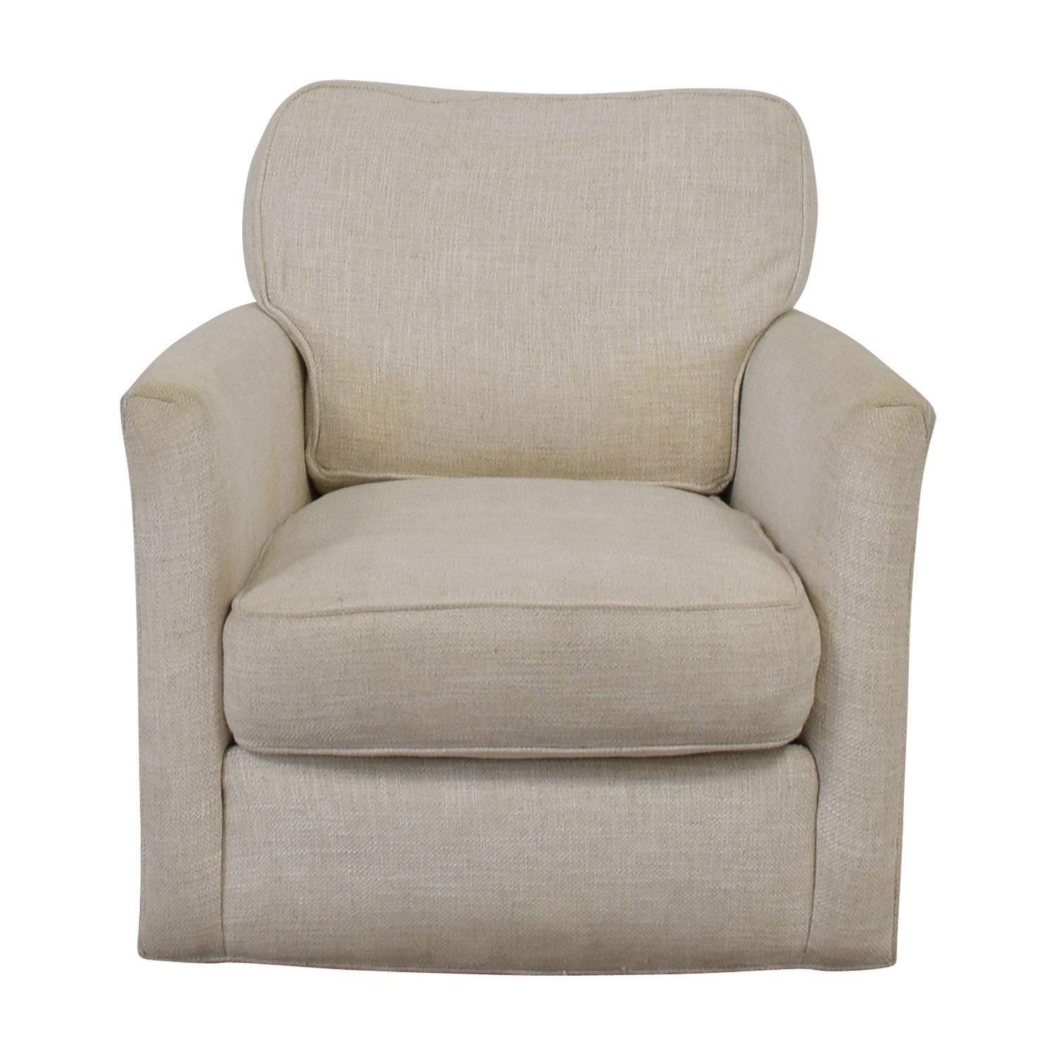 Crate & Barrel Crate & Barrel Talia White Swivel Chair discount