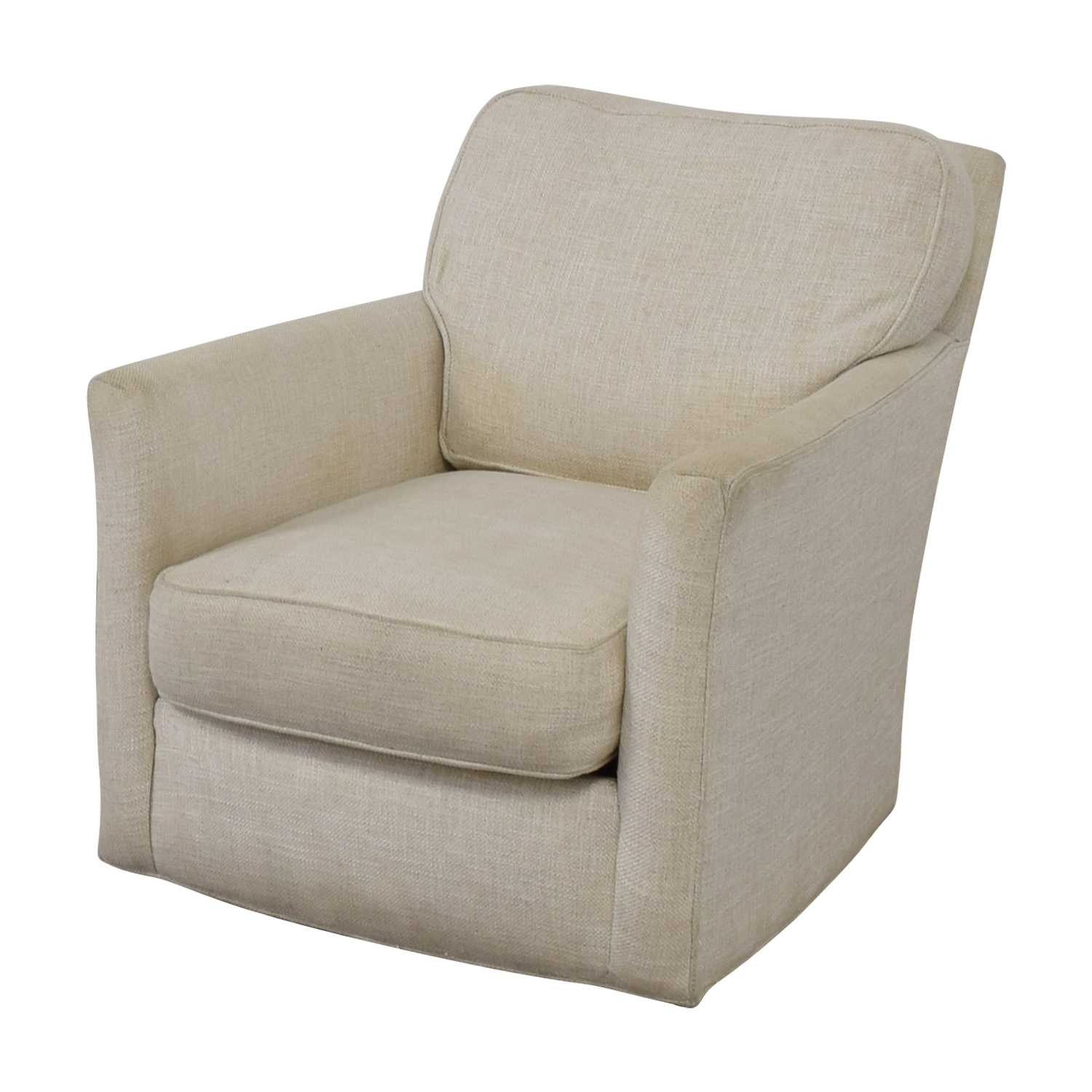 Charmant 90% OFF   Crate U0026 Barrel Crate U0026 Barrel Talia White Swivel Chair / Chairs