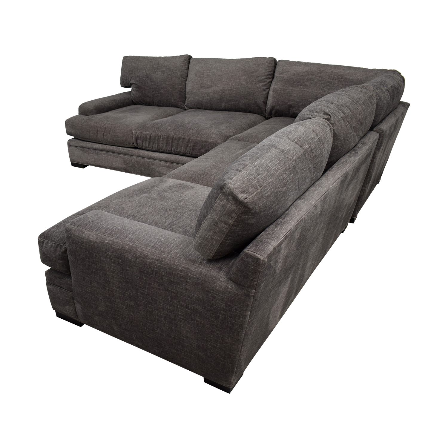 Raymour & Flanigan Raymour & Flanigan Cindy Crawford Grey L-Shaped Sectional discount