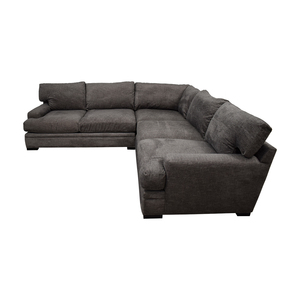 Raymour & Flanigan Raymour & Flanigan Cindy Crawford Grey L-Shaped Sectional second hand