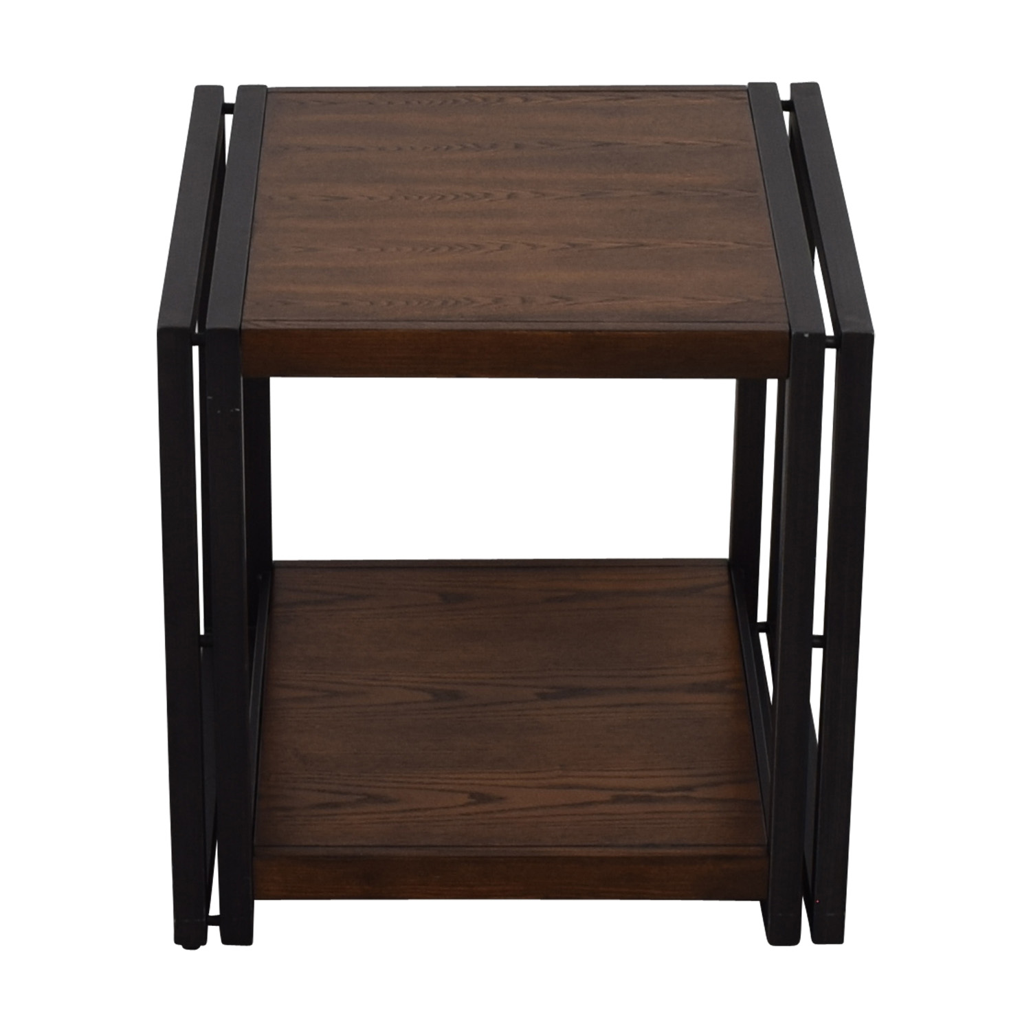 shop Brown and Black Side Table