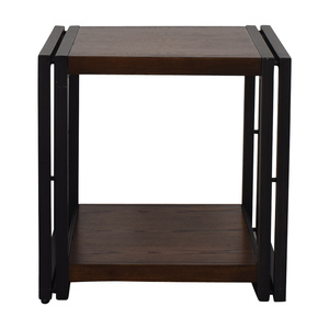 Brown and Black Side Table