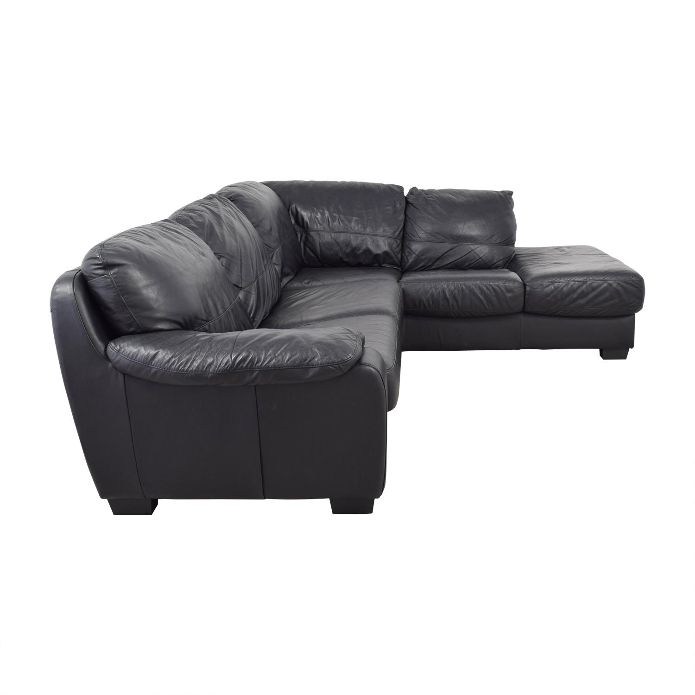 Zen Zen Black Leather Sectional coupon