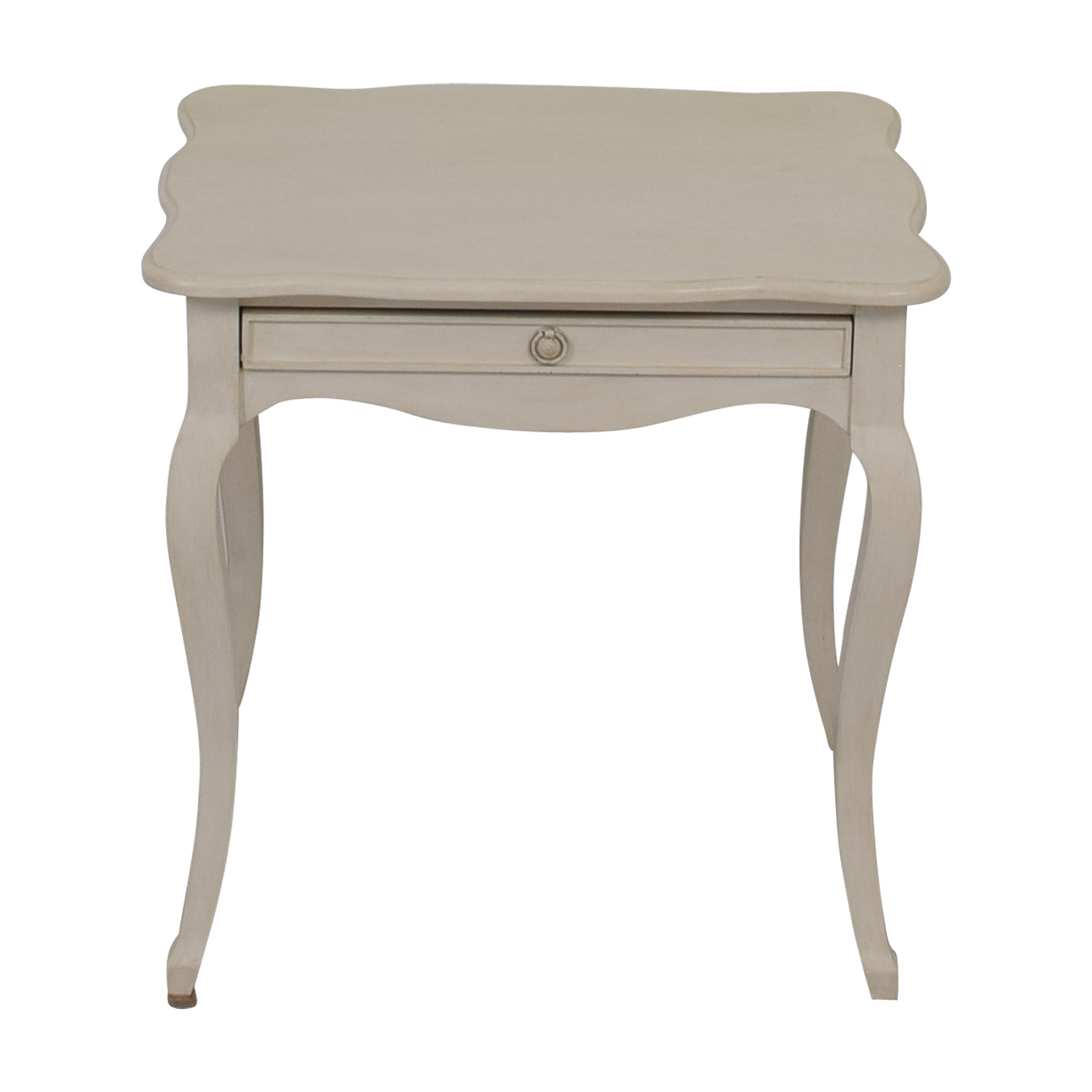 Off White Single-Drawer Night Table dimensions