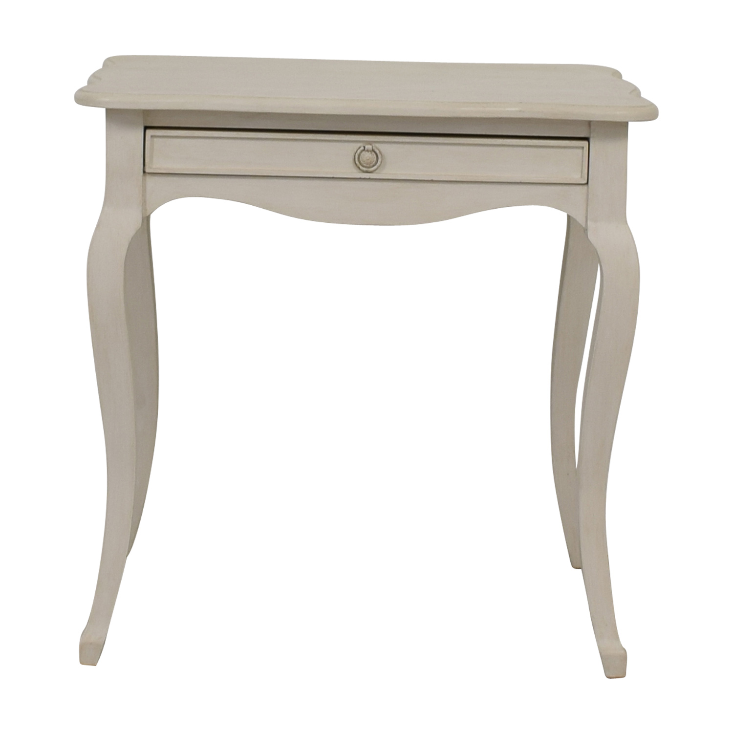 Off White Single-Drawer Night Table for sale