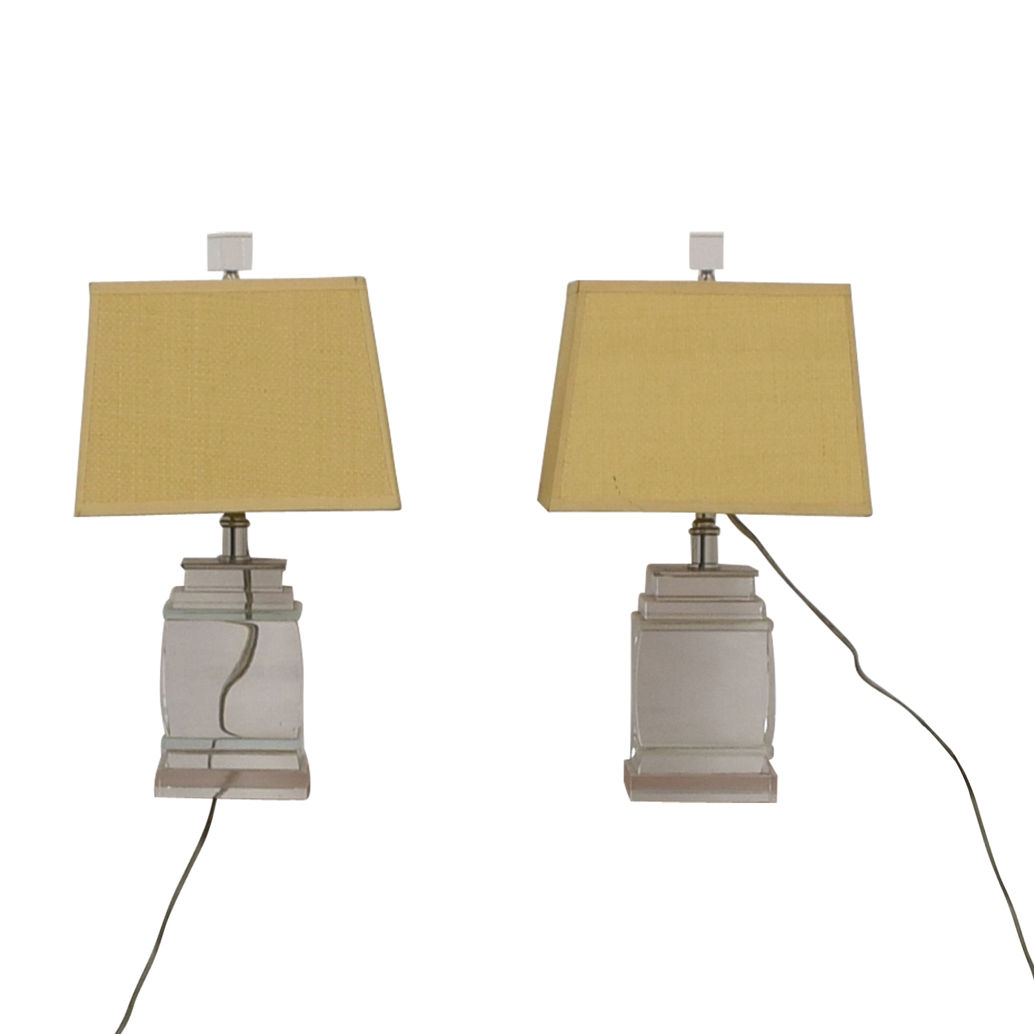 Glass Base Table Lamps clear