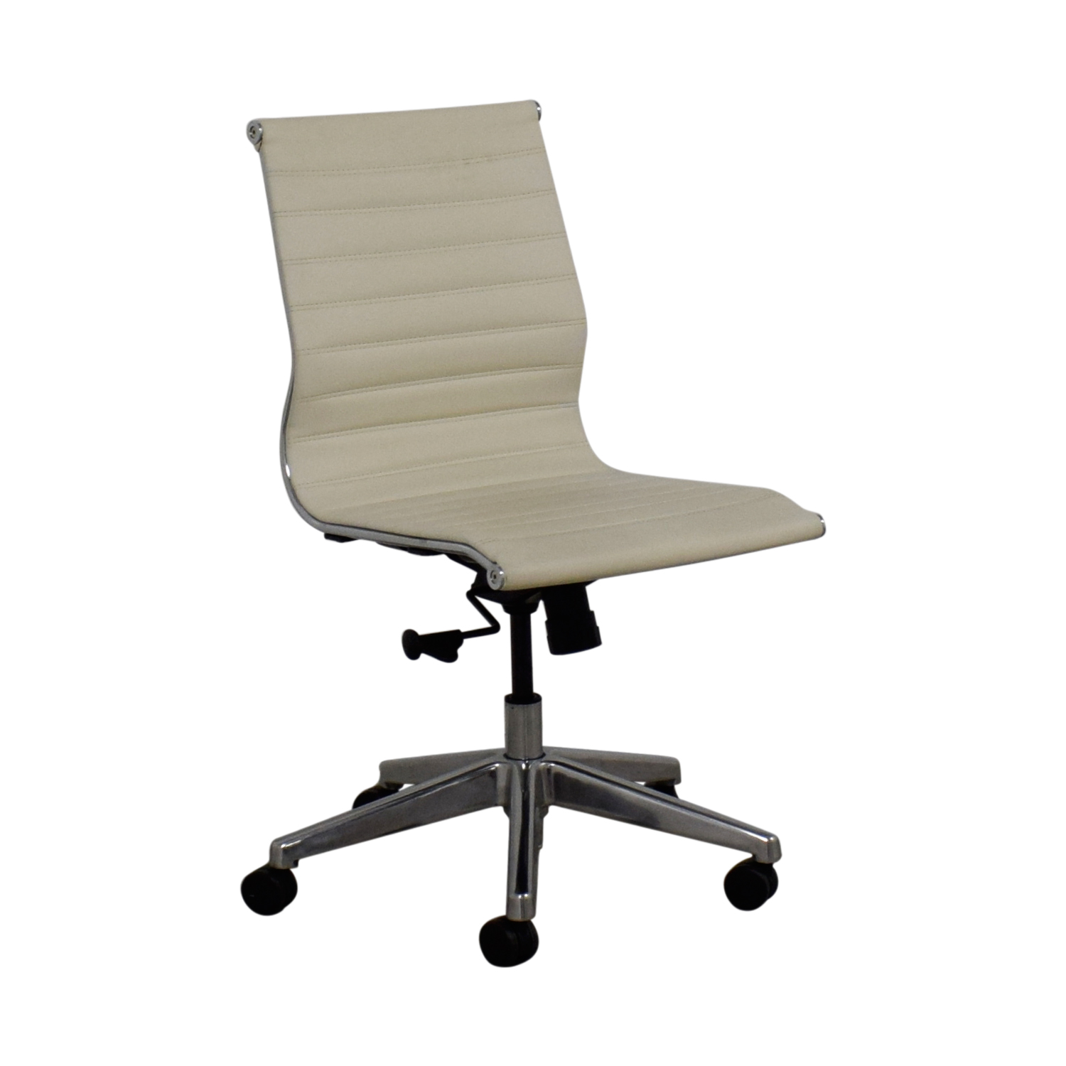 shop White Leather Office Chair  Chairs