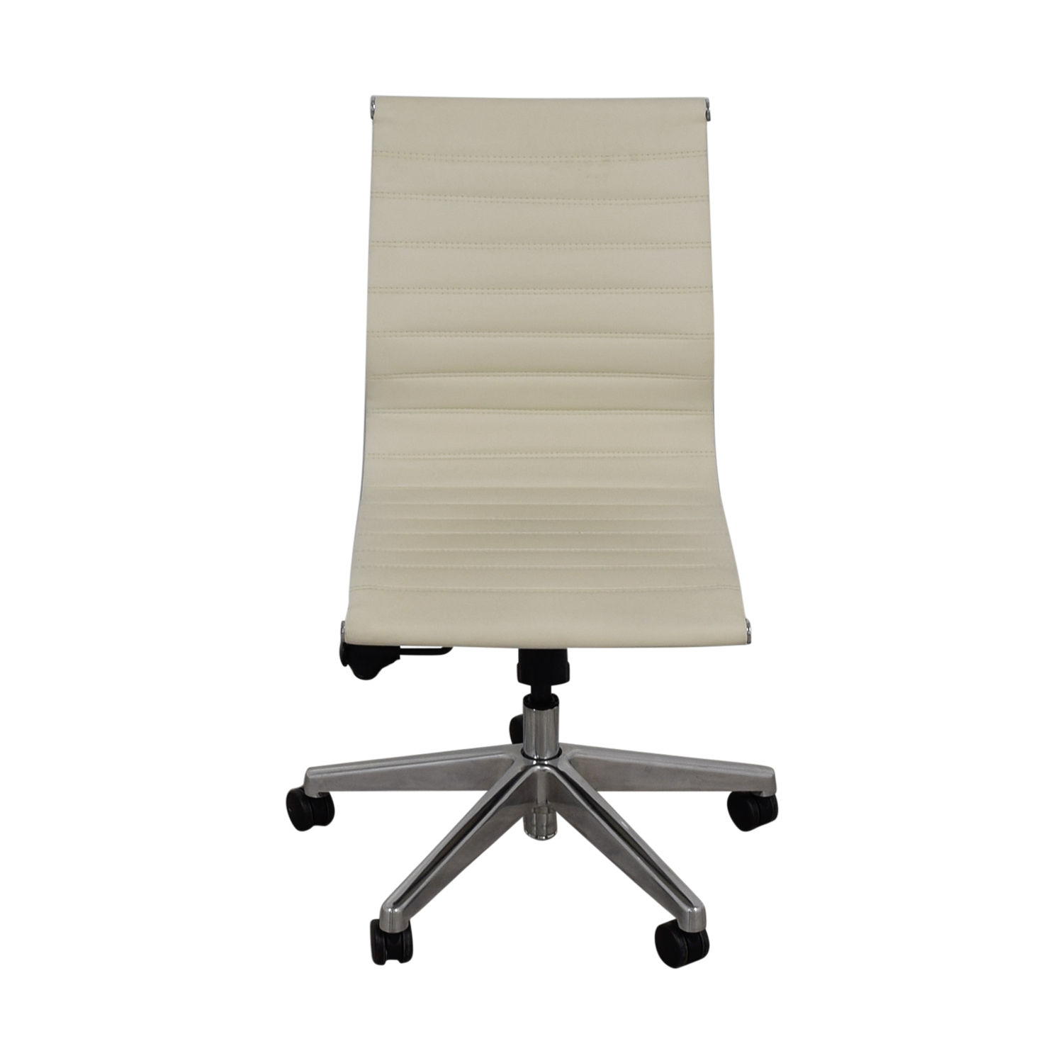 White Leather Office Chair / Home Office Chairs