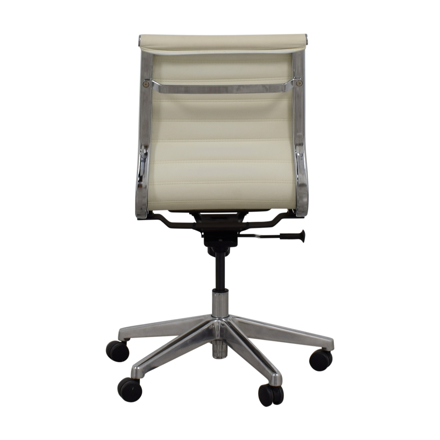 White Leather Office Chair nyc