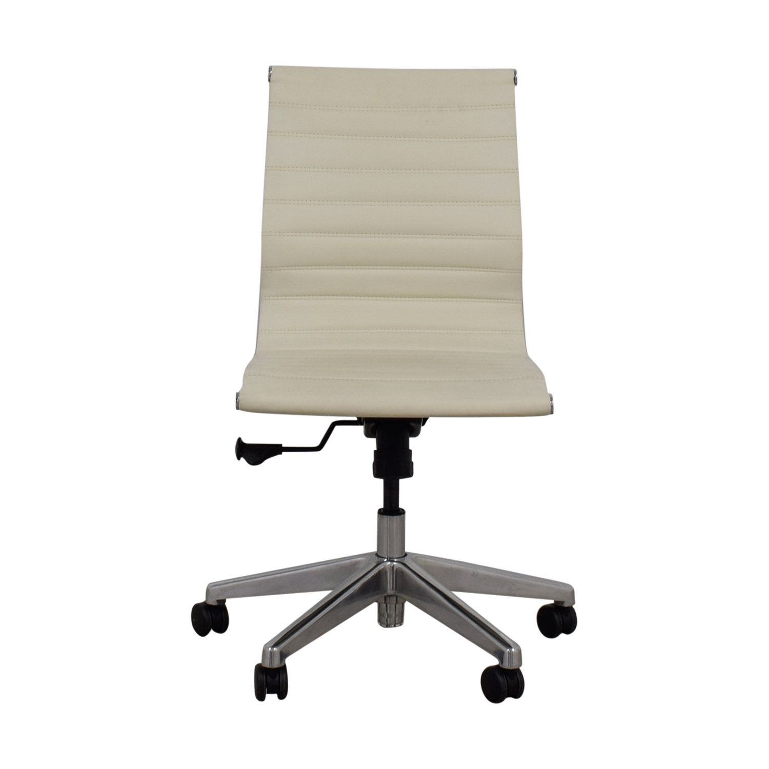 White Leather Office Chair discount