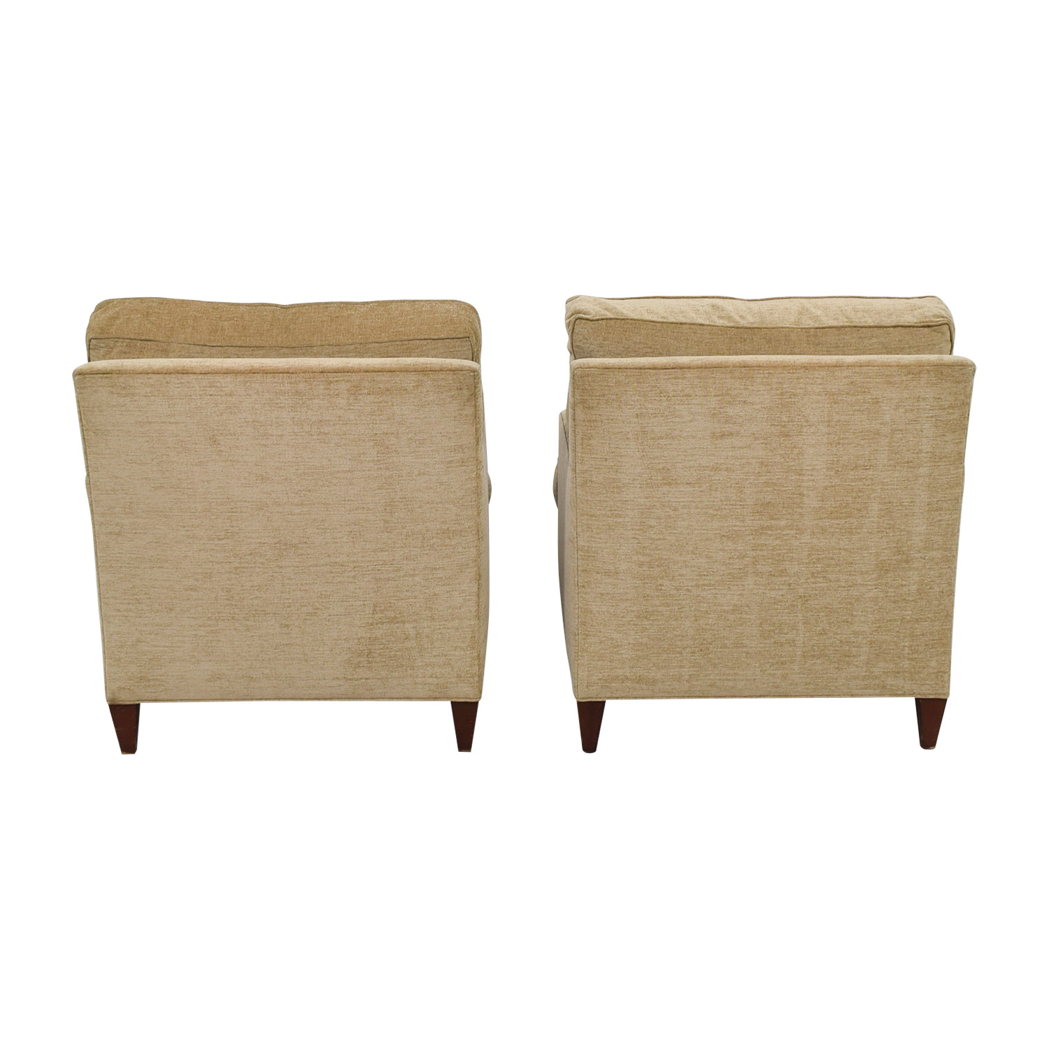 Hickory Chair Hickory Chair Beige Chenille Accent Chairs with Toss Pillows dimensions