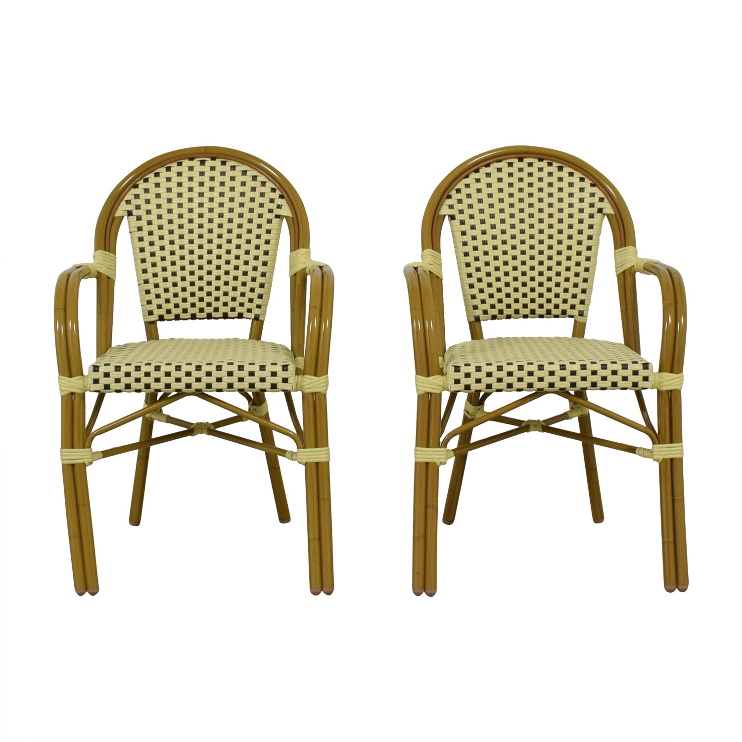 shop Checkerboard Bistro Chairs  Chairs
