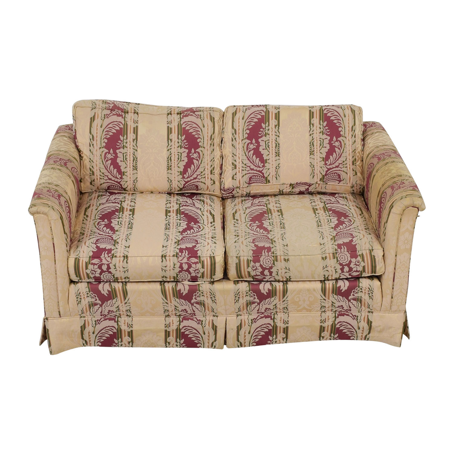 Drexel Heritage Drexel Heritage Yellow and Red Multi Color Loveseat dimensions