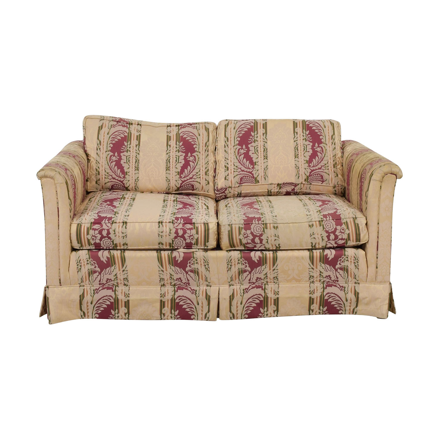 Drexel Heritage Drexel Heritage Yellow and Red Multi Color Loveseat nj