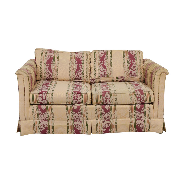 Drexel Heritage Yellow and Red Multi Color Loveseat sale