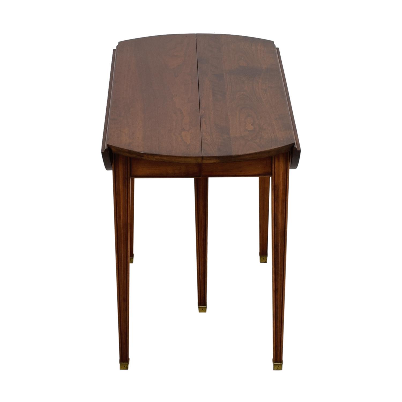 shop Henkel Harris Cherry Expandable Table with Four Leaves Henkel Harris
