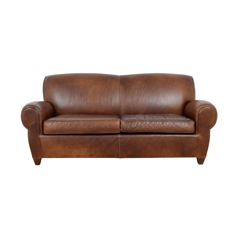 Mitchell Gold + Bob Williams Mitchell Gold + Bob Williams Manhattan Brown Leather Sofa coupon