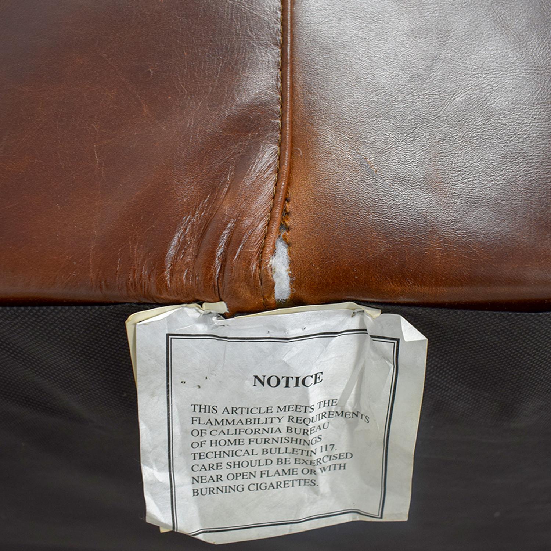 Mitchell Gold + Bob Williams Mitchell Gold + Bob Williams Manhattan Brown Leather Sofa for sale