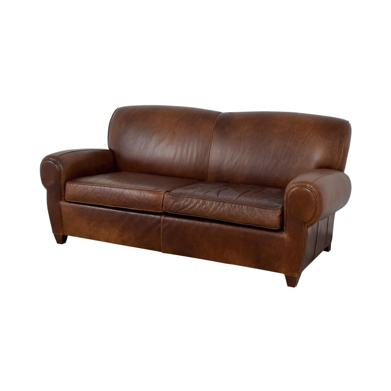 Mitchell Gold + Bob Williams Mitchell Gold + Bob Williams Manhattan Brown Leather Sofa price