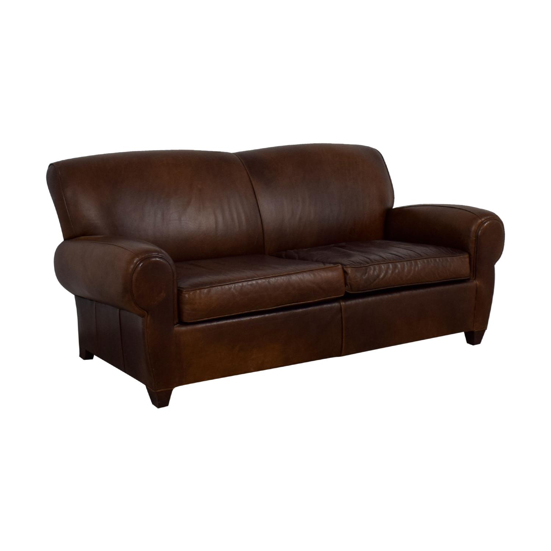 buy Mitchell Gold + Bob Williams Manhattan Brown Leather Sofa Mitchell Gold + Bob Williams Sofas