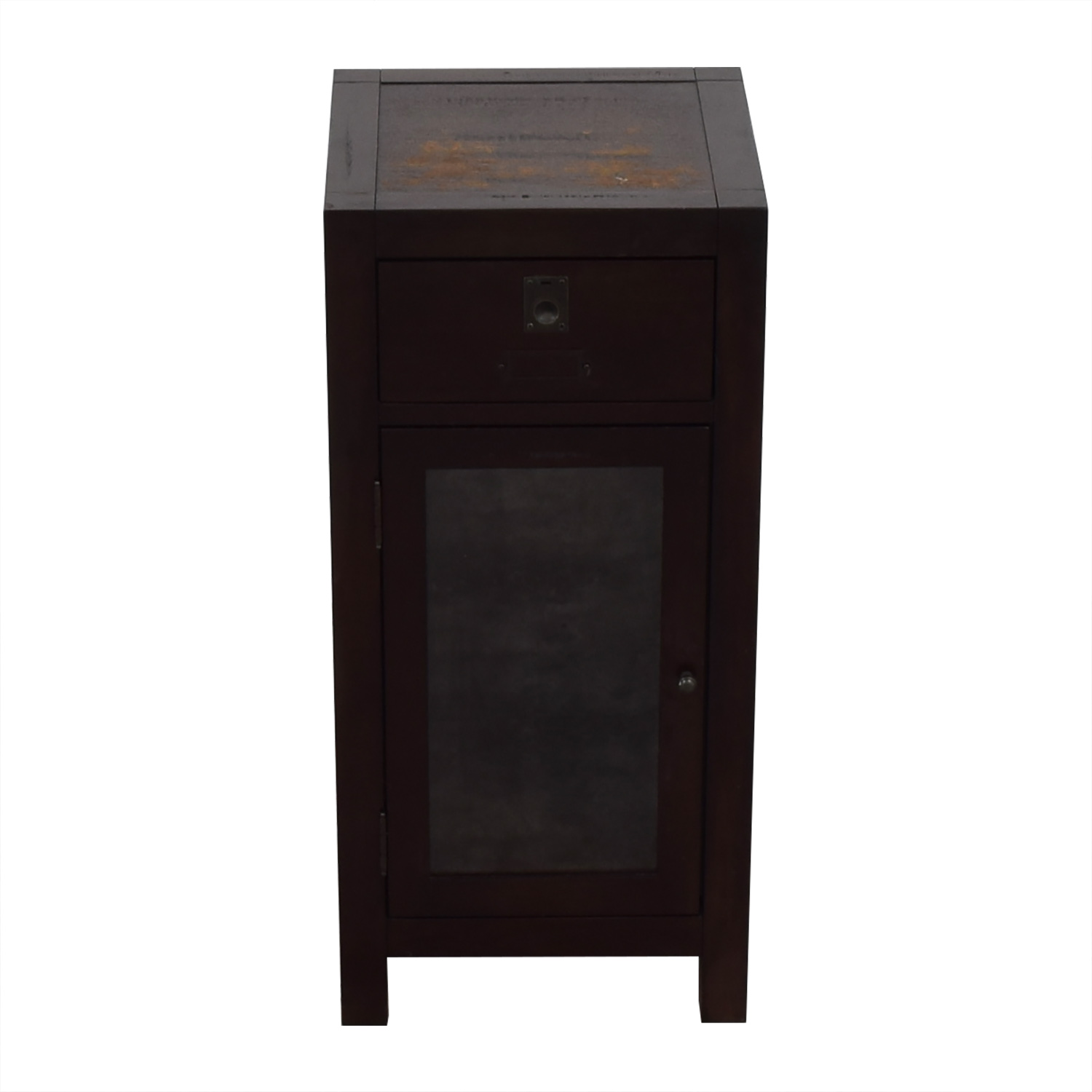 Pottery Barn Pottery Barn Brown End Table with Cabinet dimensions