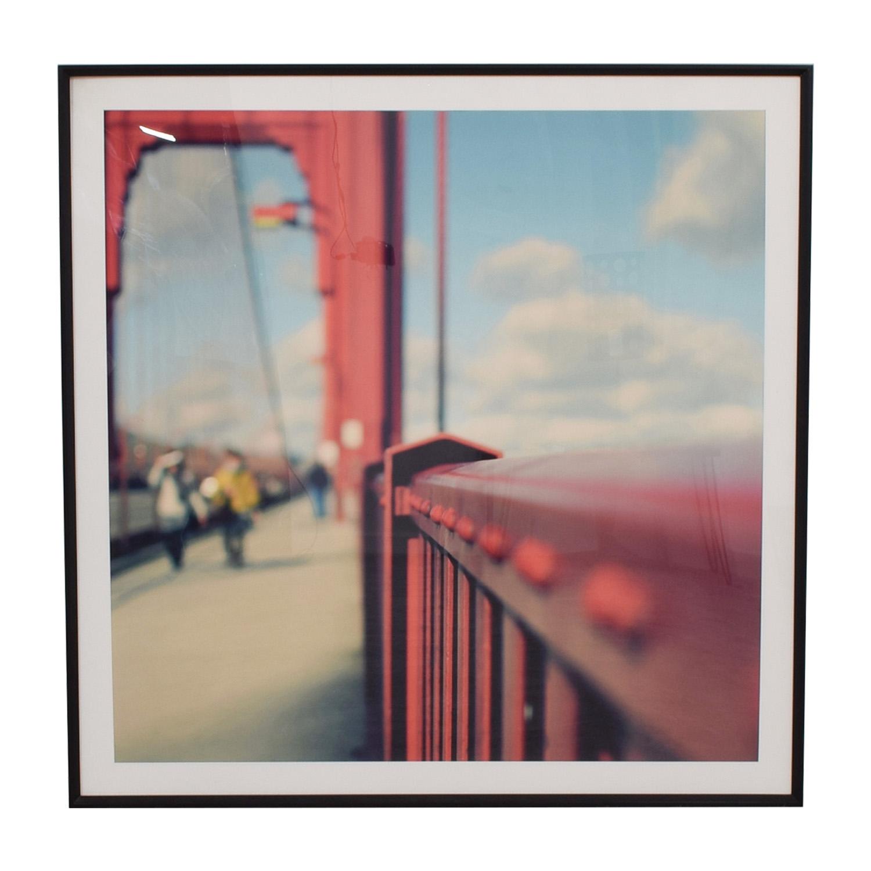 Pottery Barn Golden Gate Bridge Framed Photograph / Wall Art
