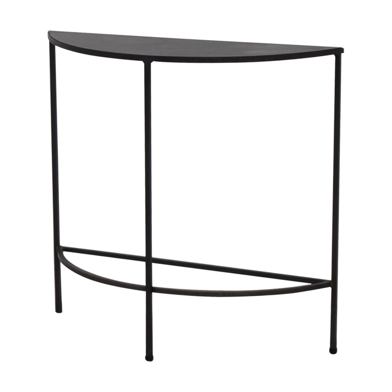 57% OFF   Room U0026 Board Room U0026 Board Black Slim Console Table / Tables