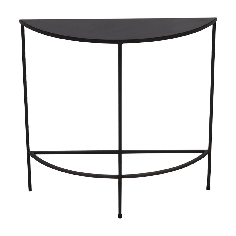 Room & Board Black Slim Console Table / Tables