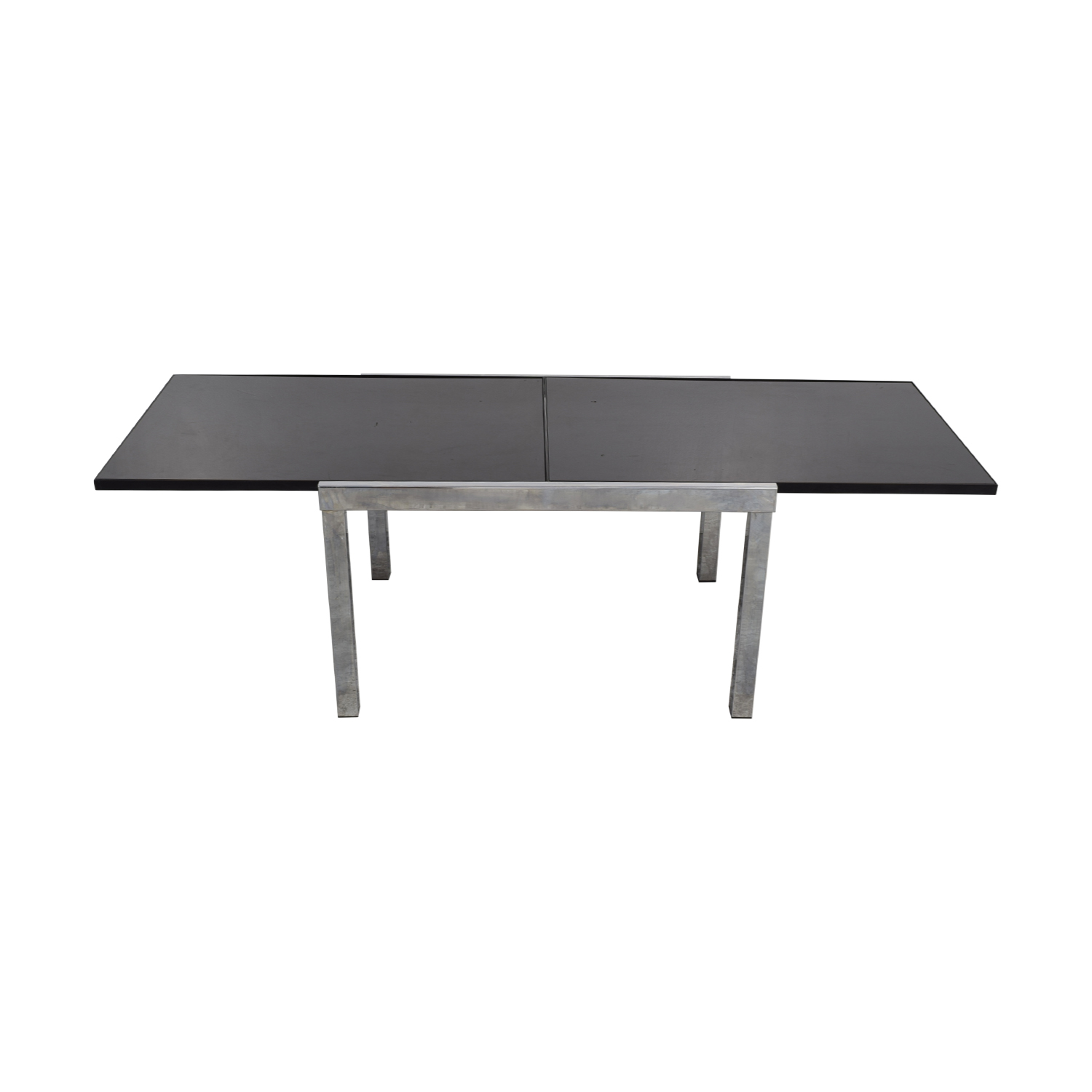 Roche Bobois Roche Bobois Glass and Chrome Extendable Dining Table on sale
