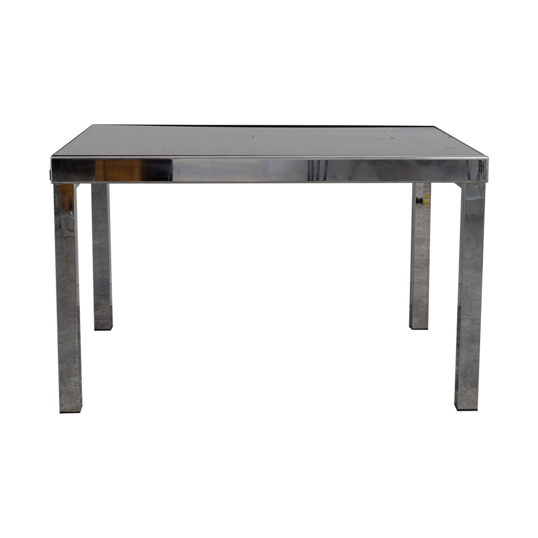 shop Roche Bobois Roche Bobois Glass and Chrome Extendable Dining Table online