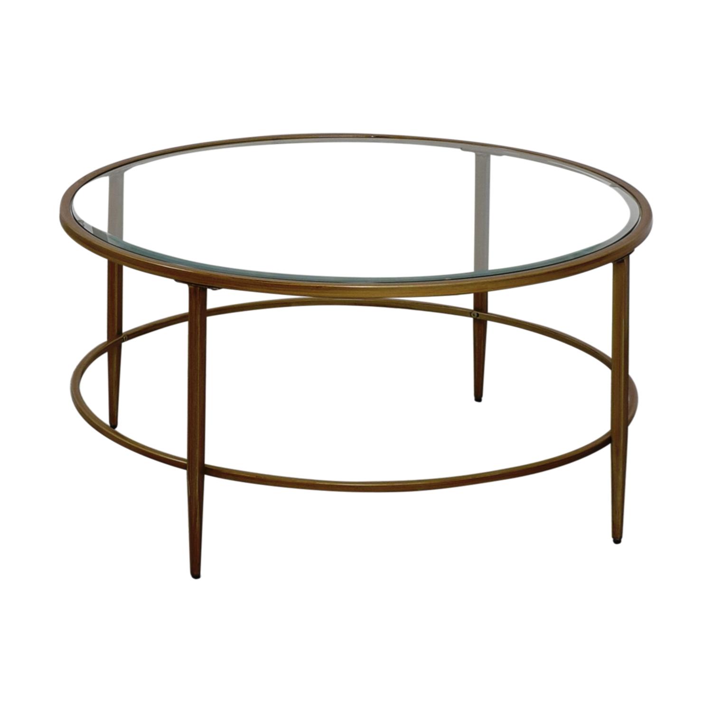 Used Lane Coffee Table: Birch Lane Birch Lane Round Glass Coffee Table