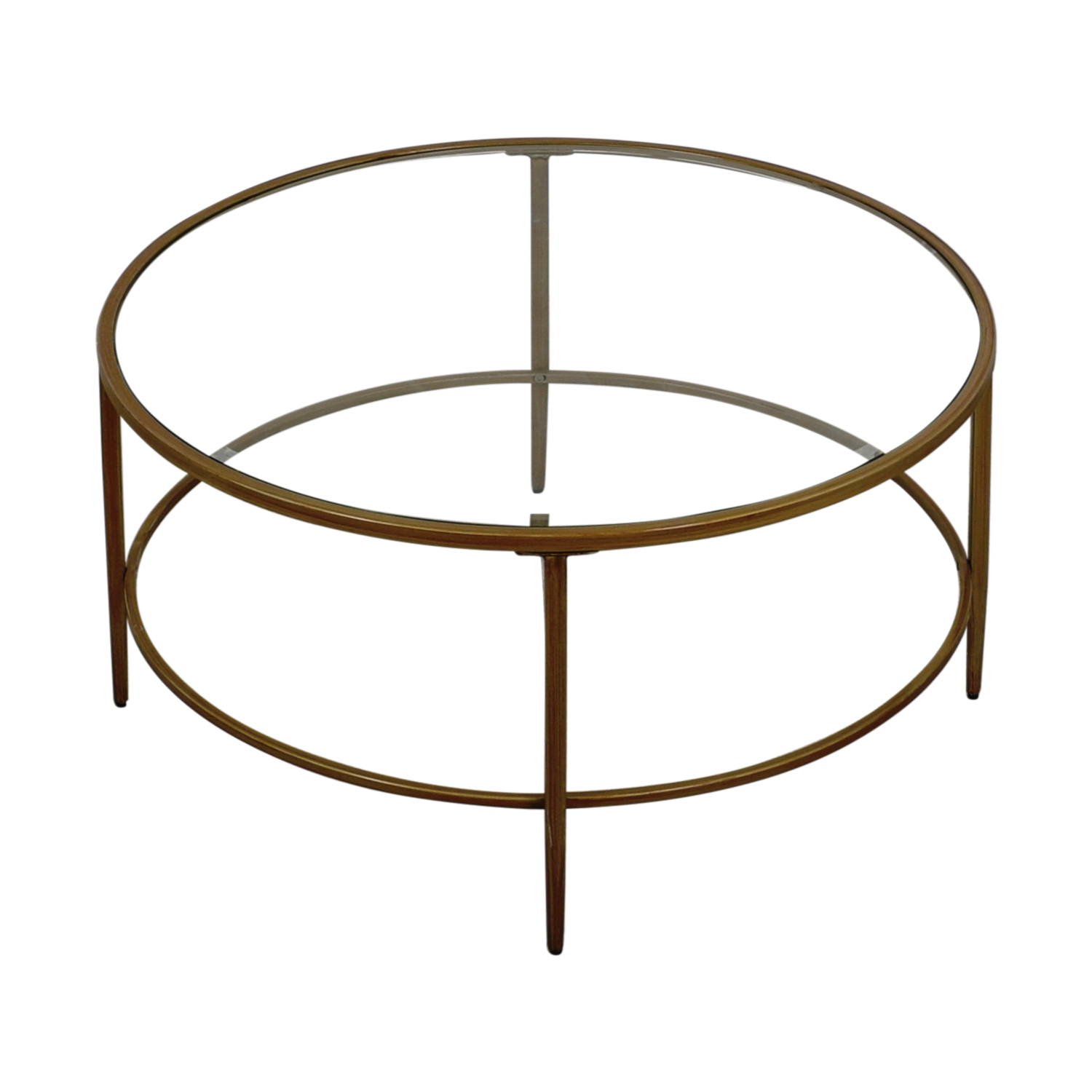 buy Birch Lane Round Glass Coffee table Birch Lane Tables
