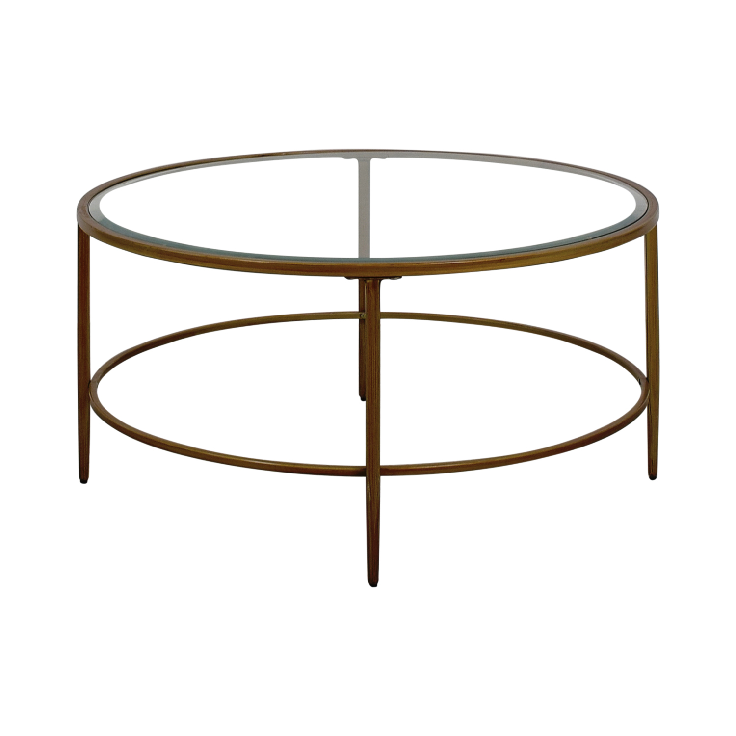 shop Birch Lane Birch Lane Round Glass Coffee table online