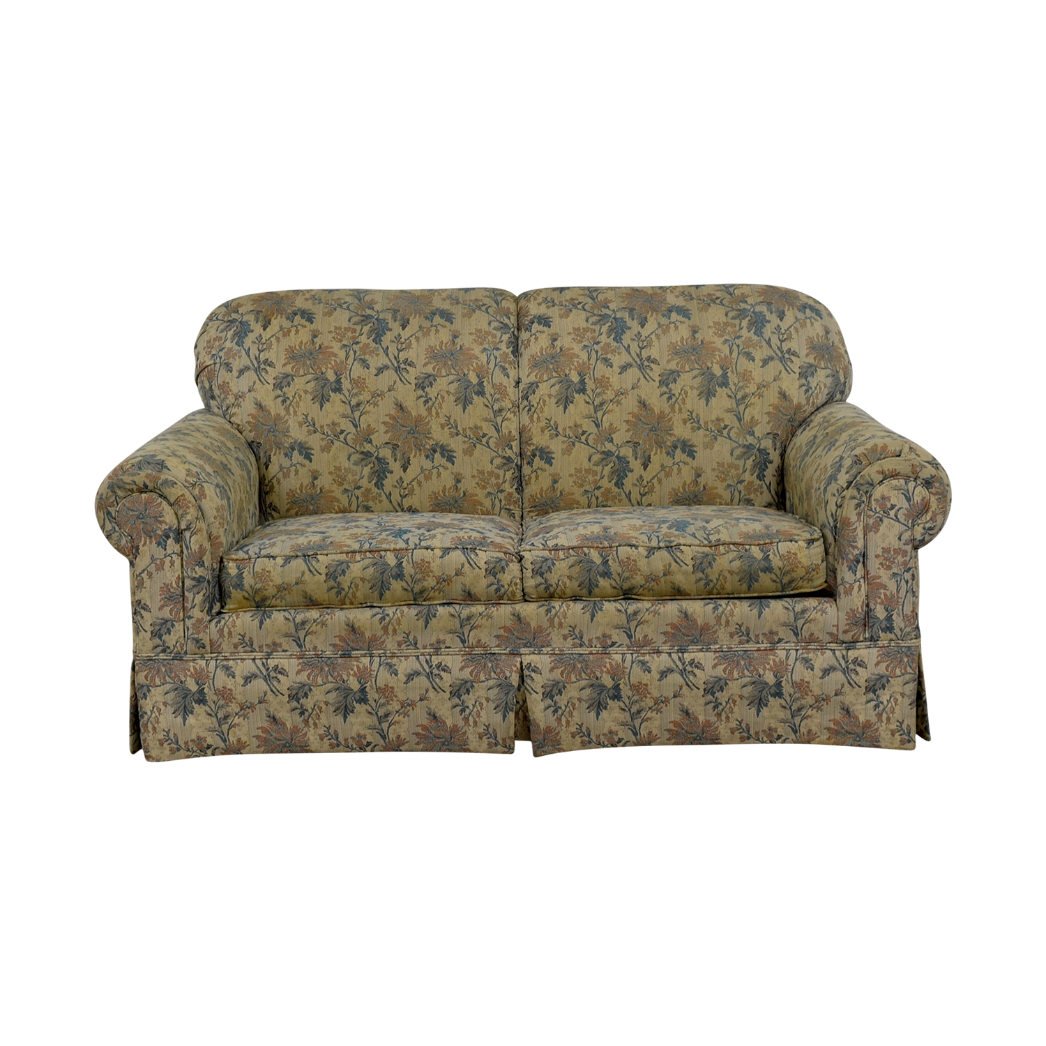 shop Broyhill Upholstery Furniture Broyhill Upholstery Furniture Yellow Flower Fabric Loveseat online