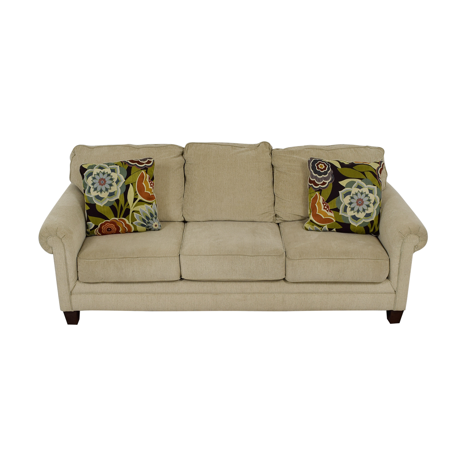 Ashley Furniture Tan Aldy Three Seat Sofa sale