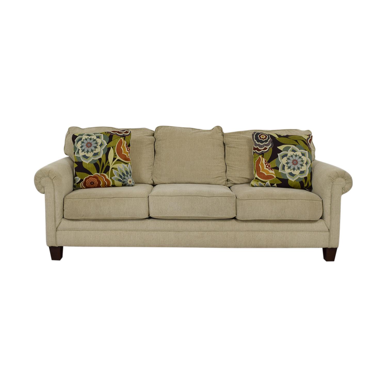 Ashley Furniture Tan Aldy Three Seat Sofa Used