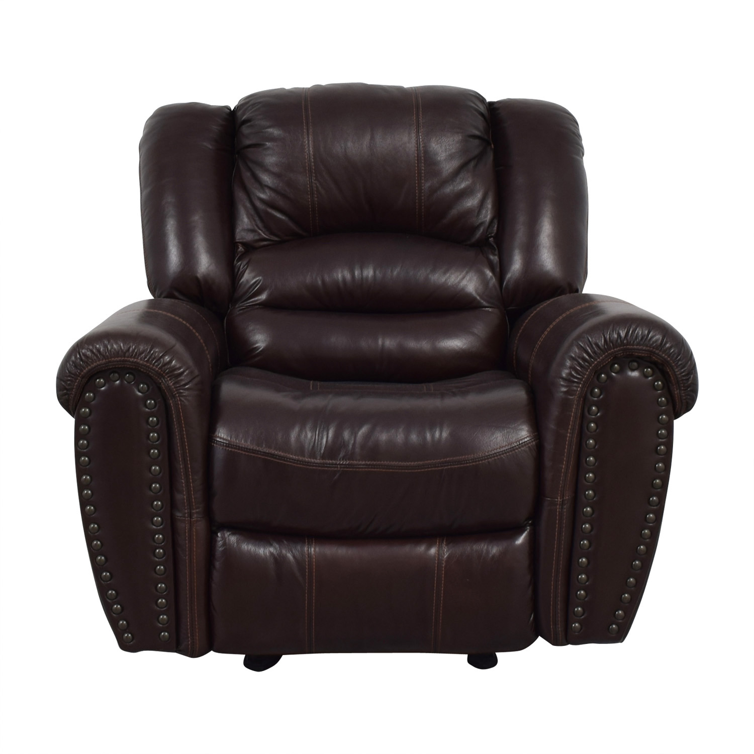 shop Raymour u0026 Flanigan Dark Brown Leather Rocker Recliner Raymour u0026 Flanigan  sc 1 st  Furnishare & Recliners: Used Recliners for sale
