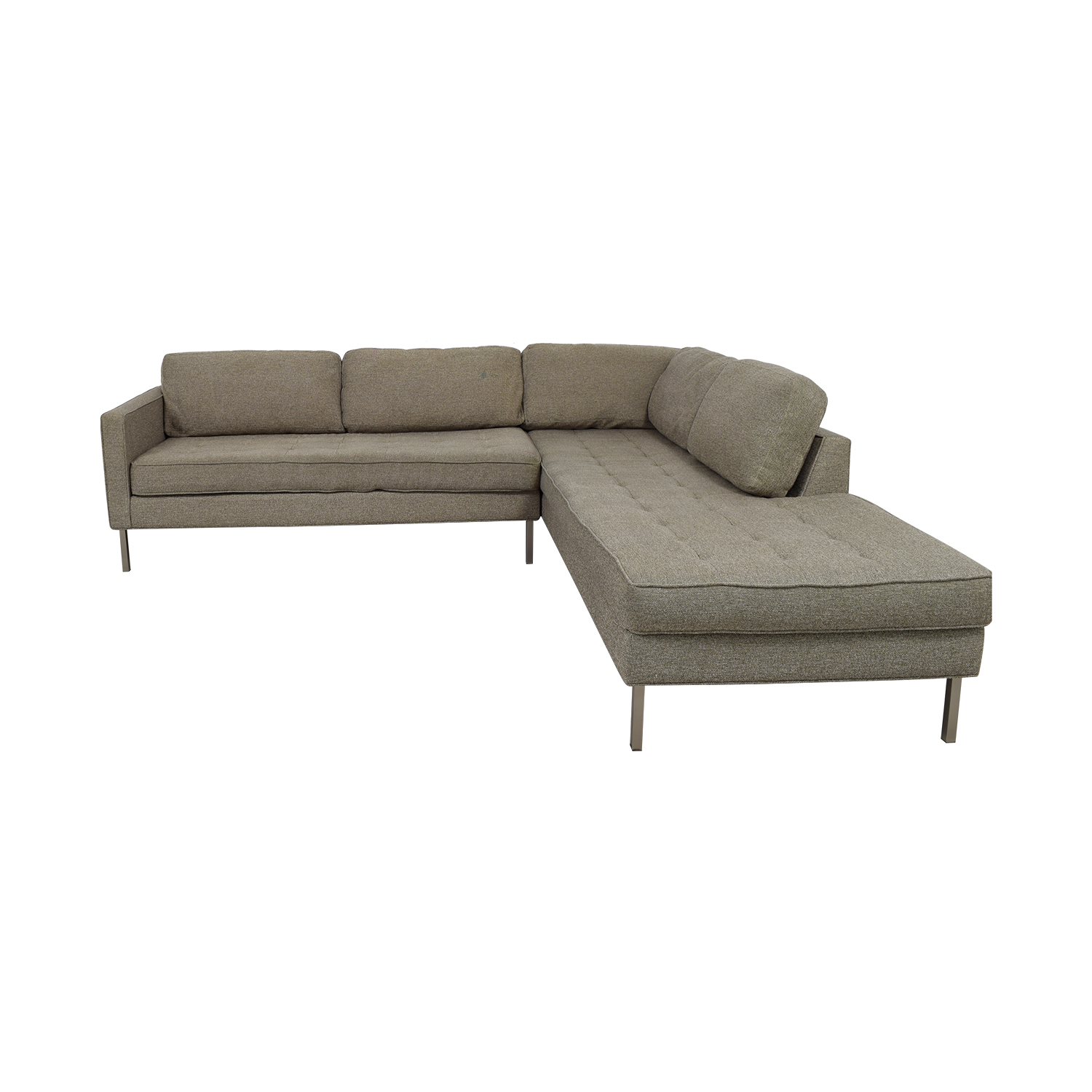shop Blu Dot Paramount Grey L-Shaped Sectional Blu Dot Sofas