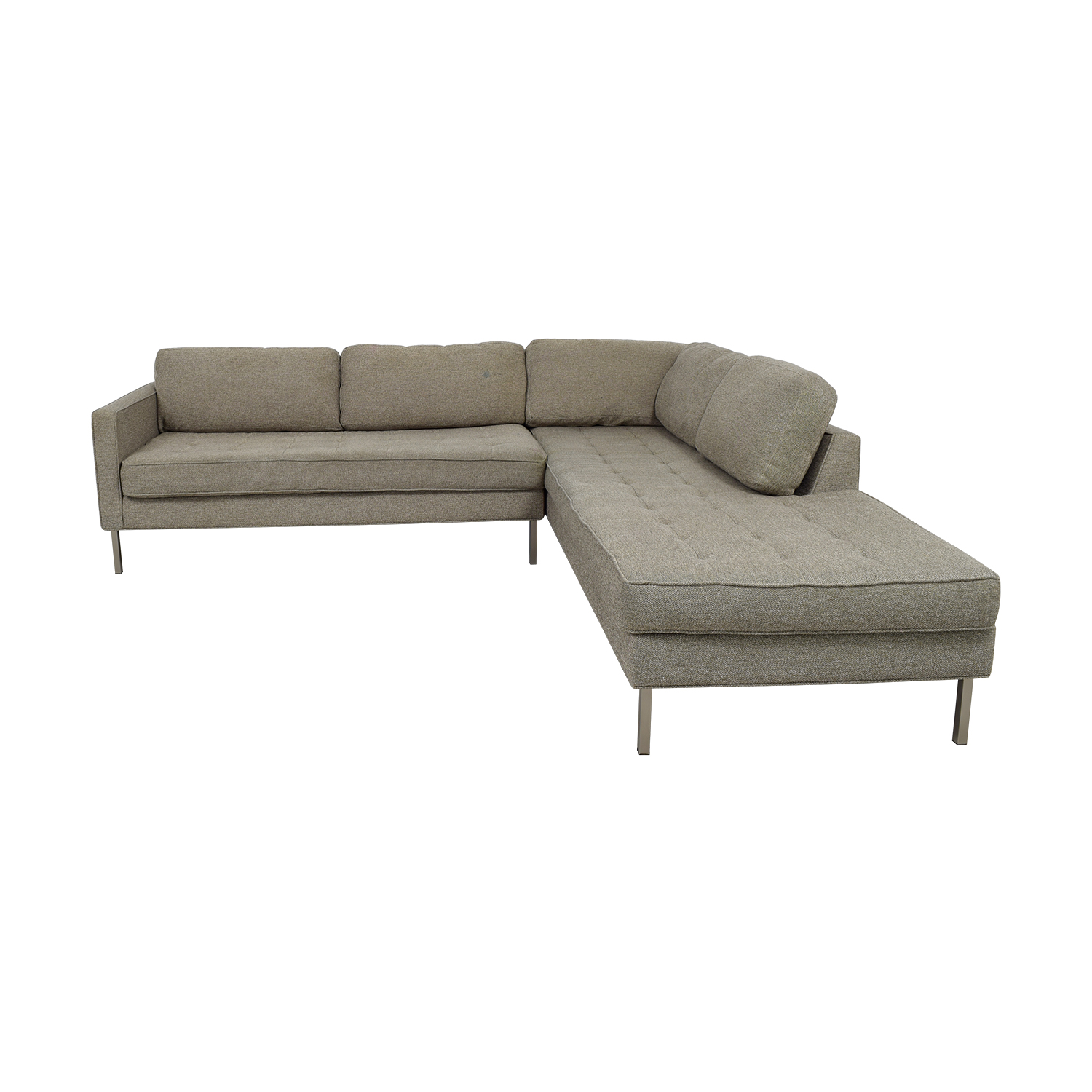 Buy Blu Dot Paramount Grey L Shaped Sectional Blu Dot Sofas ...