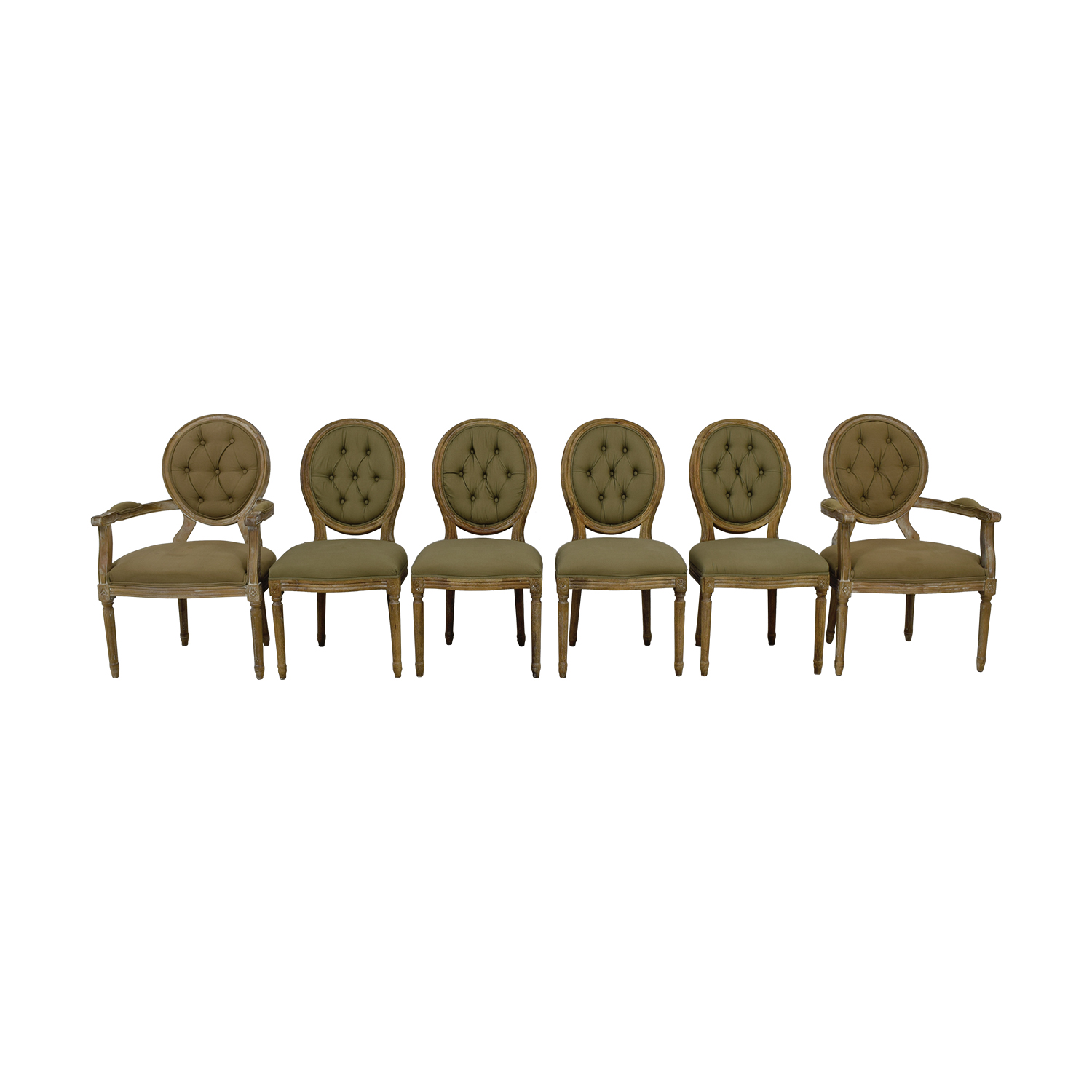Horchow Horchow Blanchette Tufted Side Chairs and Arm Chairs