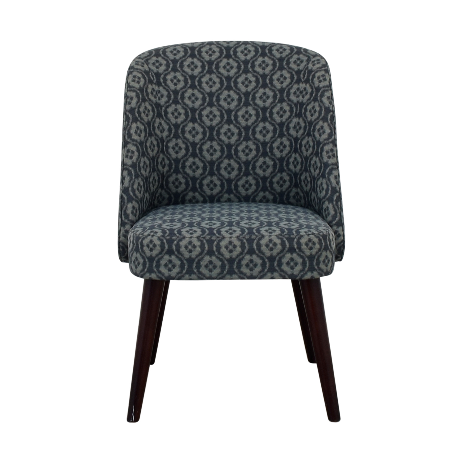 Patterned Blue Accent Chair dimensions