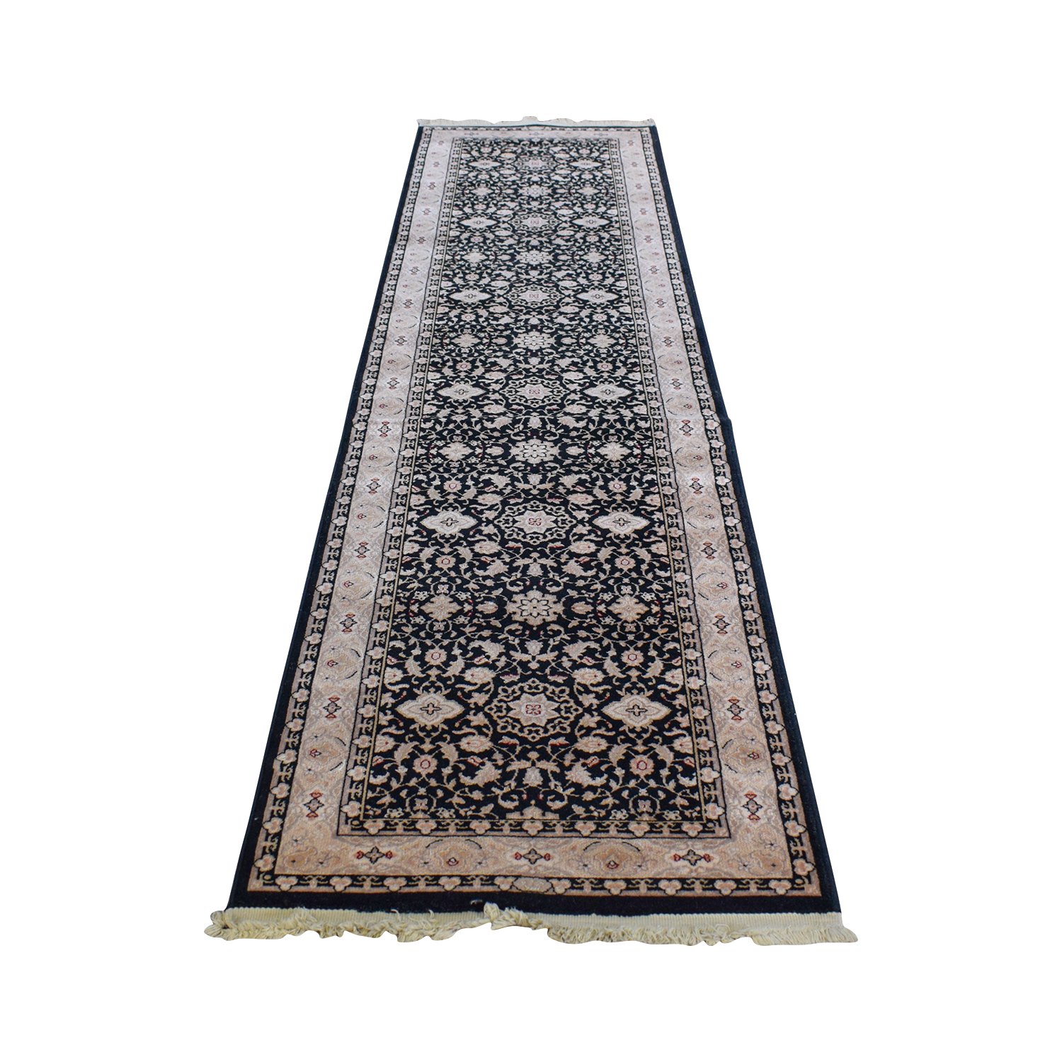 Karastan Persian Black Multi-Colored Runner / Decor