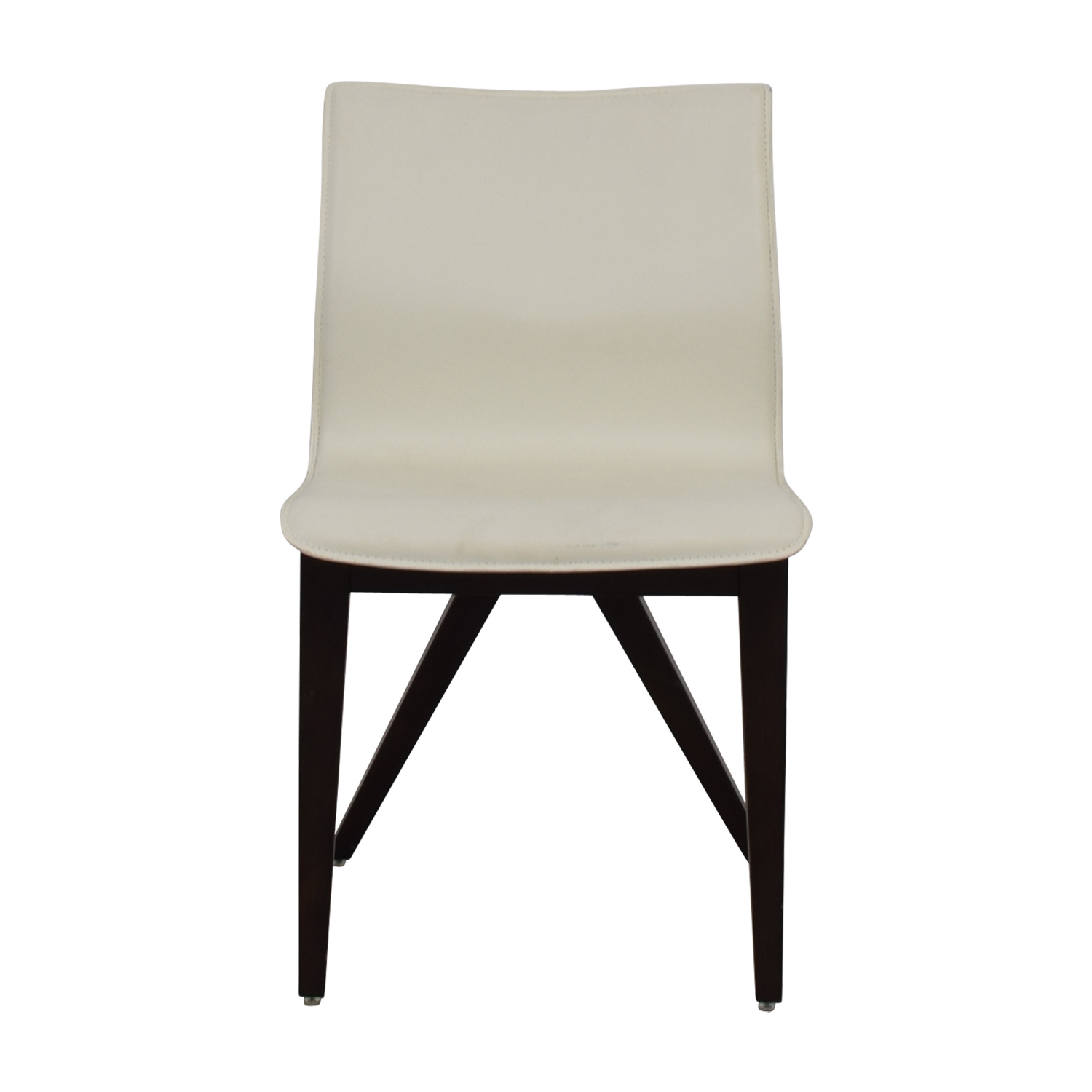 Cliff Young Cliff Young X-Back White Leather Chair for sale